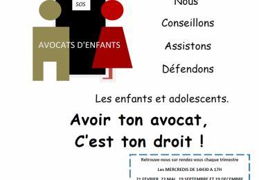Nouvelle permanence SOS avocats d'enfants